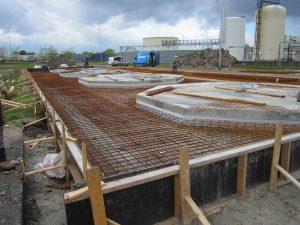 Gewapend beton plaatsen