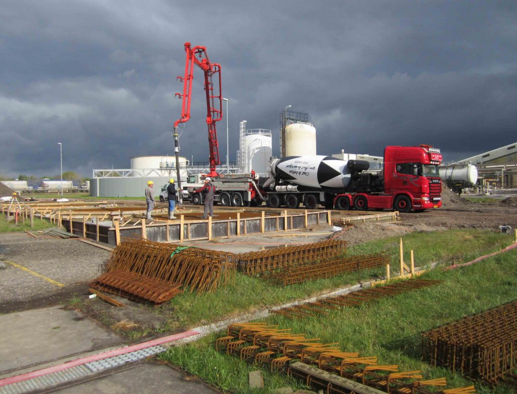 Silo fundering